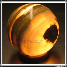 Lampe Onyxmarmor Kugel Nachttischlampe Stein Tischleuchte Kugellampe Onyx Marmor