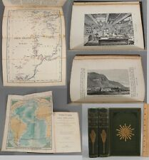 1877 2-vol Set The Voyage of Ship Challenger 19thC Oceanographic Exploration