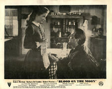 BLOOD ON THE MOON ORIGINAL LOBBY CARD ROBERT MITCHUM BARBARA BEL GEDDES