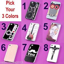 Lot 3 Pick Colors TPU Rubberized Designs Protector Case Cover for Iphone 4 4S 4G