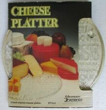 """CHEESE PLATTER 11"""" footed crystal 2712-1  Jeannette Glass   ~ circa 1970"""