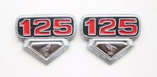 HONDA CB125 CB 125 CB125S SIDE COVER EMBLEM BADGES PAIR RED NEW