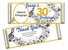 Music/Musical Birthday Candy Bar Wrappers-Set/12
