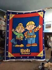 "Bob the builder fleece fabric, 46"" by 58"", 1 panel"