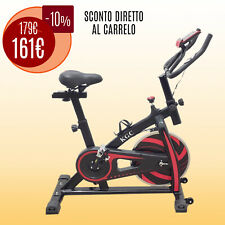 SPIN BIKE SPINNING PROFESSIONALE MULTIFUNZIONE CYCLETTE CASA PALESTRA VOLANO 6KG