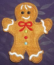 GINGERBREAD MAN PATCH CHRISTMAS EMBROIDERED FROSTY RUDOLPH DIY