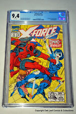 X-Force 11 Marvel Comic Book CGC 9.4 Brand new case! 1992 1st Domino & Deadpool