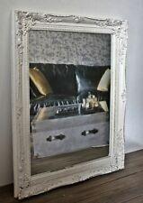 Spiegel Wandspiegel barock weiß antik Patina HOLZ Landhaus Cottage Badspiegel