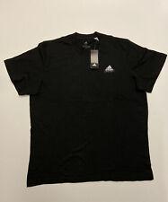 Mens Adidas Black Doodle Emblem T Shirt Top Size XXL Short Sleeve Crew Neck Tee