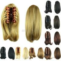 Clip In Ponytail Claw On Hair Piece Pony Tail 26cm Short Straight Hair Extension