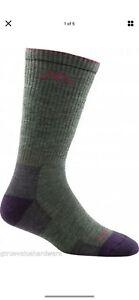 USA DARN TOUGH 1907 MOSS Hiker Boot Sock Cushion Womens Med M MED Merino Wool