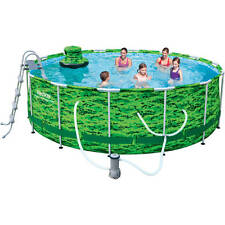 "Bestway 14' x 48"" Camo Steel Pro Frame Above Ground Swimming Pool Set"