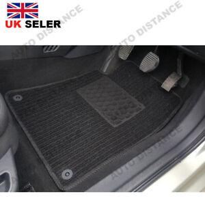 Tailored Quality Black Carpet Car Mat With Heel Pad For Chrysler Ypsilon (MK3)