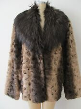 $249 ADRIENNE LANDAU BROWN MIX FAUX FUR COAT LONG SLEEVE COAT SIZE 3X - NWT