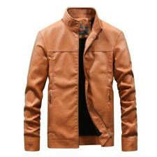 High Quality Mens Leather Jacket Coat Male Classic Motorcycle Thick Coats Biker
