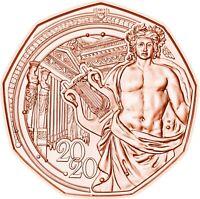 Österreich 5 Euro 2020 Neujahrsmünze Musikverein Wien Kupfermünze bankfrisch