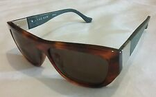 Linda Farrow The Row 30/2 Brown & Olive Leather Arms Sunglasses RRP £ 310