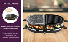 Andrew James Oval Half Stone & Half Traditional Raclette Grill