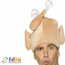 FUNNY CHRISTMAS TURKEY HAT adults mens ladies womens xmas novelty fancy dress