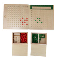 Montessori Mathematics Bead Board Multiplication & Division Teaching Aid Toy