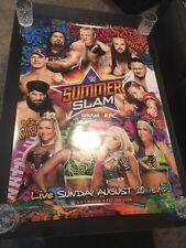 WWE SummerSlam 2017 PPV Poster RARE WWF WCW John Cena Roman Reigns NEVER SOLD!!!