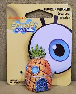 "Spongebob 2"" Mini Resin Pineapple Cake Topper Aquarium Ornament Fish Tank"