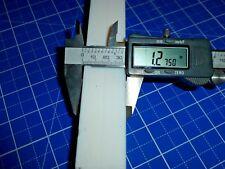 """1.25"""" 1-1/4"""" Square PTFE Teflon Plastic Bar, Per Foot - 31.75mm Strip Stock"""