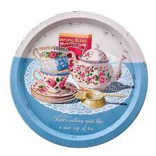 MARTIN Wiscombe Retro bella tazza di tè ROUND Tin Vassoio FULL RANGE IN MAGAZZINO
