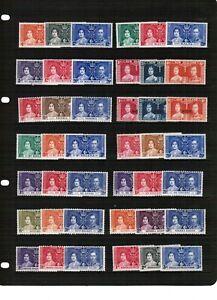 1937 Coronation Omnibus mounted mint sets selection