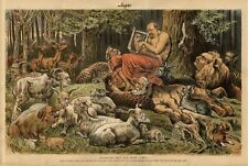 APOLLO GROVER CLEVELAND PLAYING LYRE KEYNOTE FREE TRADE CIRCUS ANIMALS LION GOAT