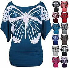 Butterfly Scoop Neck Other Women's Tops