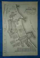 Original MAP of JACKSON PARK, the 1893 WORLD'S COLUMBIAN EXPOSITION ~ Chicago IL
