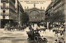 CPA PARIS 10e - La gare du Nord et le Boulevard Denain (254186)