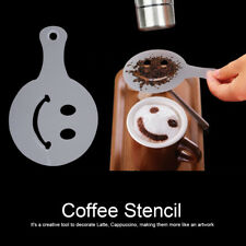 16X/Set Chocolate Shaker Duster Cappuccino/Latte Coffee Art Stencils Mould ZY
