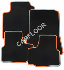 Für Seat Leon 1P Bj. 8.05 - 6.08 Fußmatten Velours schwarz mit Rand orange