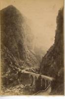 Algérie, Gorges de Kerrala  Vintage albumen print.  Tirage albuminé  5,5x8