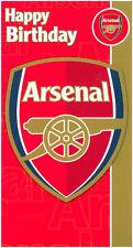 Arsenal football club joyeux anniversaire carte licence carte
