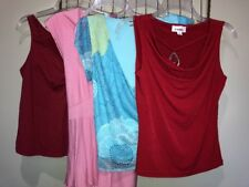 Mixed Lot Pink Red Blue Tops Blouses Women's M 7-9