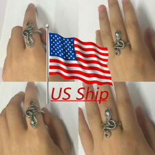 Cosplay Game DS Ring Covetous Silver Serpent Ring Handmade Ring Size 9 Props