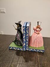 Rare Set - Jim Shore Witch Bookends - Glinda & Wicked Witch 4049683 4051363