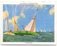 Sharpie Class Racing Twelve Square Metre Sailboat 1930s Trade  Card