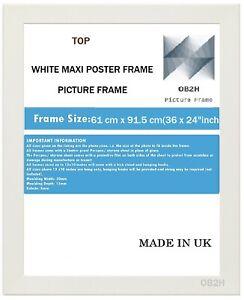 "MATT WHITE MAXI POSTER PICTURE FRAME ,Size(61 cm x 91.5 cm(36 x 24""Inch)"