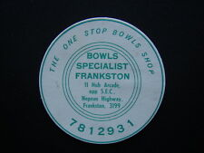 BOWLS SPECIALIST FRANKSTON THE ONE STOP BOWLS SHOP COASTER