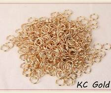 4/5/6/7/8/10/12/14/16mm Metal Open Jump Ring Split Rings Connectors Gold/Silver