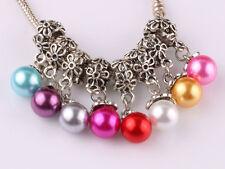 NEW 20pcs Tibetan silver pearl pendant spacer beads fit Charm European Bracelet