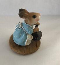 Teaberry Meadow Patty's Tea Kettle Like Wee Forest Folk Mint Bunny Figurine Blue