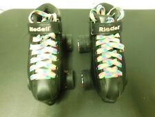 Riedell black girls/ladies rollerskates size 5 colorful laces outdoor sport