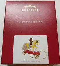 Hallmark 2021 A Pony for Christmas Ornament New with Box