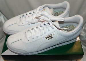 Puma Men's   Roma Classic Perf Sneaker White Size 11 New With Box