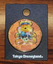 Tokyo Disney Land Resort Aloha Winnie the Pooh Orange Pineapples Slider Pin! New